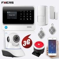 FUERS Новый 3g G90B 433 МГц Wi Fi GSM беспроводная домашняя охранная сигнализация с дисплеем приложение управление охранная сигнализация SMS