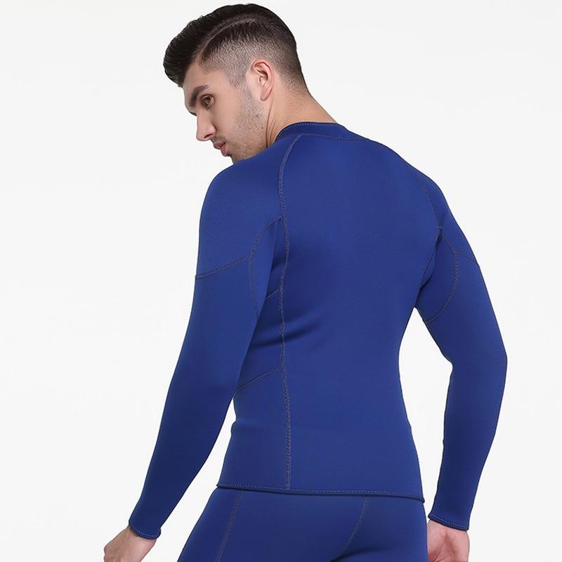 f4c66f1c52 SBART 3MM Neoprene Wetsuit Top Men Long Sleeve Sunscreen UV Warm ...