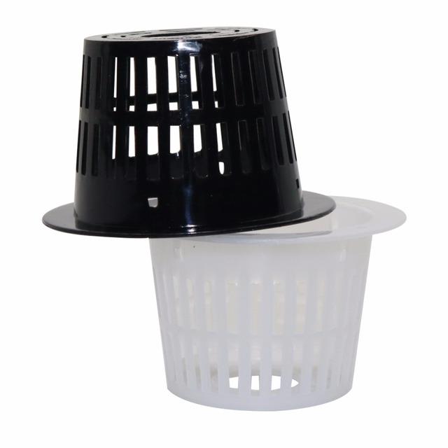 40 Pcs Mesh Pot Net Basket Soilless cultivation Cloning Hydroponic Collar Foam Insert Plant Hydroponic Aeroponic Planting Grow