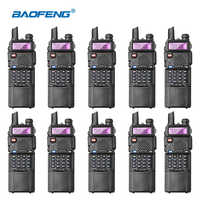 10pcs/lot Baofeng UV-5R 3800mAh Walkie Talkie for Hunting UHF VHF Two-way Ham Radio Transceiver UV5R Radio Communicator UV 5R