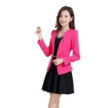 Spring Women Slim Coat 2016 Autum Casual Jacket Long Sleeve One Button Suit Ladies Traje Work Wear