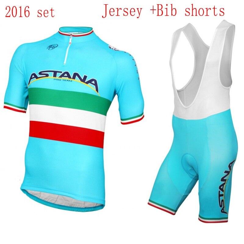 ФОТО 2016 pro tour bike team astana cycling jerseys summer Short sleeve quick dry cloth MTB Ropa Ciclismo Bicycle maillot GEL