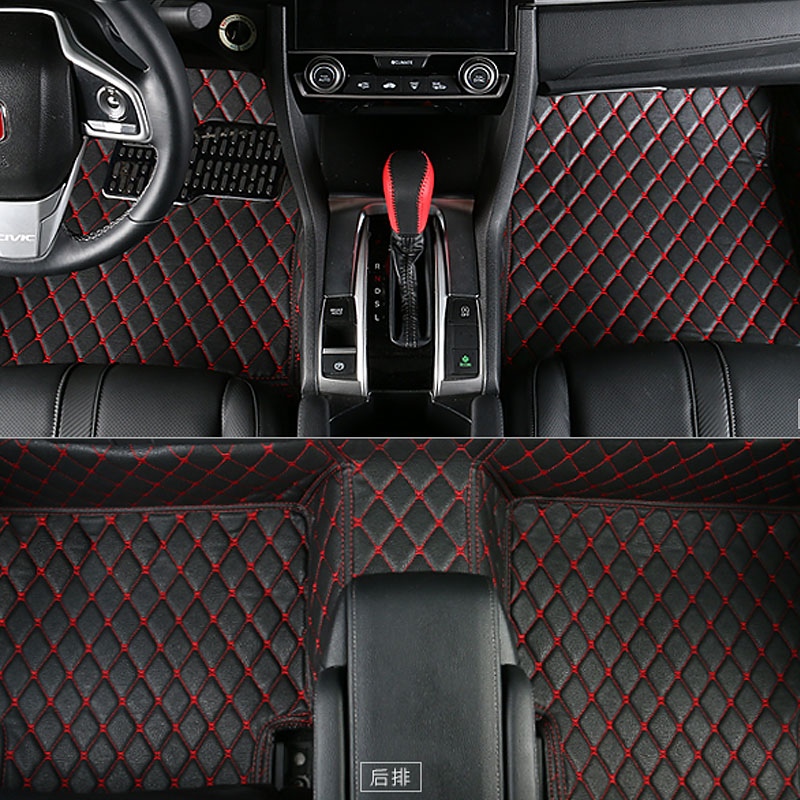 car-styling interior styling car floor mat  for honda civic 2017 2018 2016 car styling mat interior accessories case for mitsubishi car styling anti slip mat