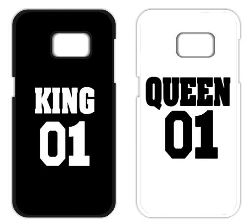 King Queen 01 Brand Couple Case for Samsung A3 A5 A7 J1 J5 J7 2016 Prime Core Prime Grand Prime Grand Neo Alpha Note 2