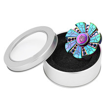 2017 LED Light Hand Spinner Fidget Copper Ball Desk Focus Toy EDC For Kids/Adults hand spinner Gyro toys May 30