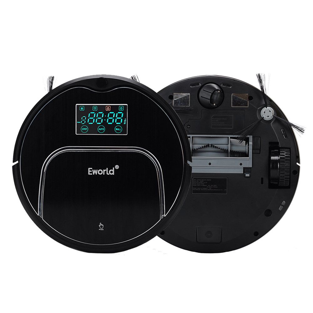 Eworld M883 Intelligent Robot Vacuum Cleaner With Big Garbage Box,Water Tank With Big Mop,Anti Fall Sensor For Home