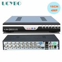 5 в 1 16ch дома 4mp AHD DVR видеомагнитофон комбо 16 канальный гибридный NVR AHD CVI TVI 960 H DVR 3G WI FI расширение Motion сигнализации