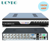 5 In 1 16CH Home 4MP AHD DVR Video Recorder Combo 16 Channel Hybrid NVR AHD