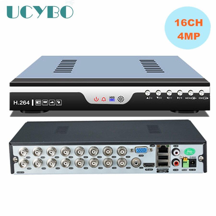 5 en 1 16CH maison 4MP AHD DVR enregistreur vidéo combo 16 canaux hybride NVR AHD CVI TVI 960 H dvr 3G WIFI extension alarme de mouvement