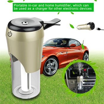 New Mini Portable Air Humidifier for Car Office Home Essential Oil Diffuser USB Aroma Diffuser car air purifier+phone charging