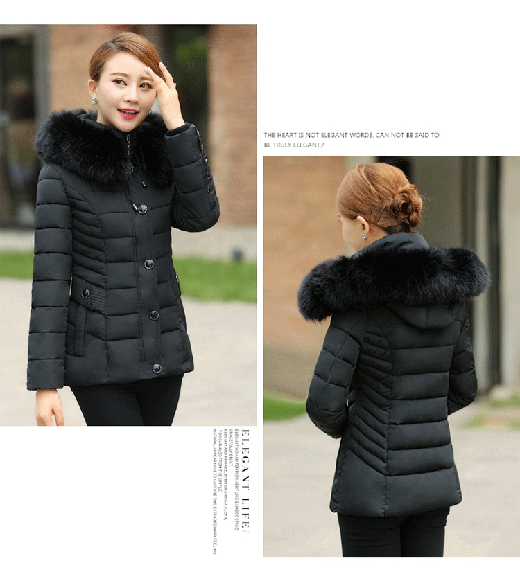 ФОТО 2017 High Quality women's Winter Down Jacket Plus Size X-Long Female Coats Fashion Fur Warm Parka camperas