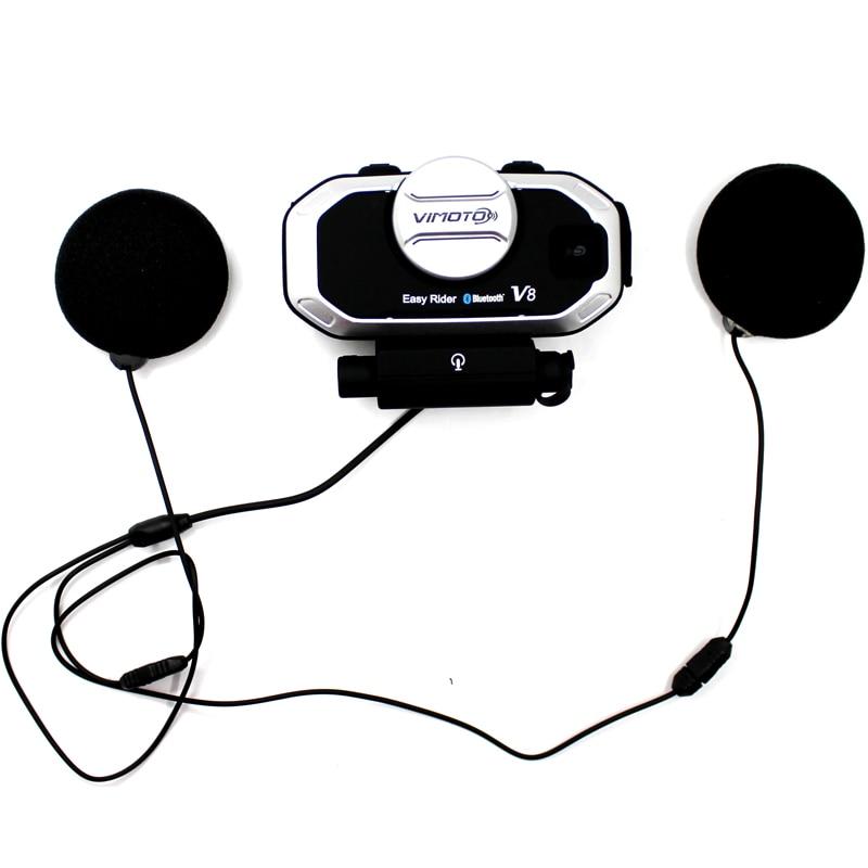 Version anglaise casque Easy Rider vimoto V8 casque Bluetooth casque moto stéréo casque pour téléphone portable et GPS Radio 2 voies - 4