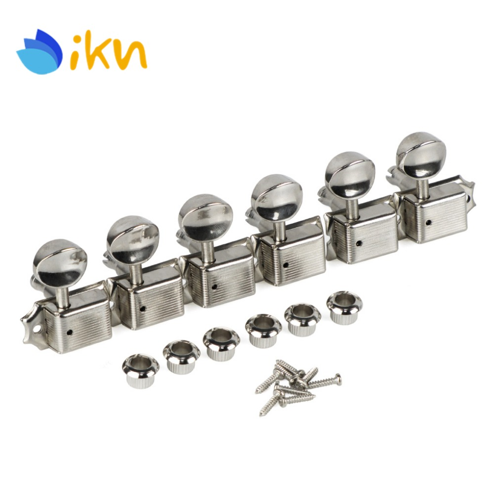 new 6 in line vintage electric guitar tuning keys tuners machine heads in guitar parts. Black Bedroom Furniture Sets. Home Design Ideas