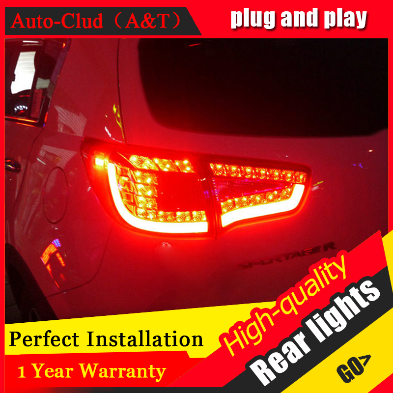 Auto Clud Car Styling for Kia Sportage R Taillights 2010-2014 Sportage LED Tail Lamp Rear Lamp DRL+Brake+Park+Signal led lights. пороги rival bmw style hyundai ix35 2010 2013 2015 kia sportage 2010 2014 2015 круг 173 см крепеж 2 шт
