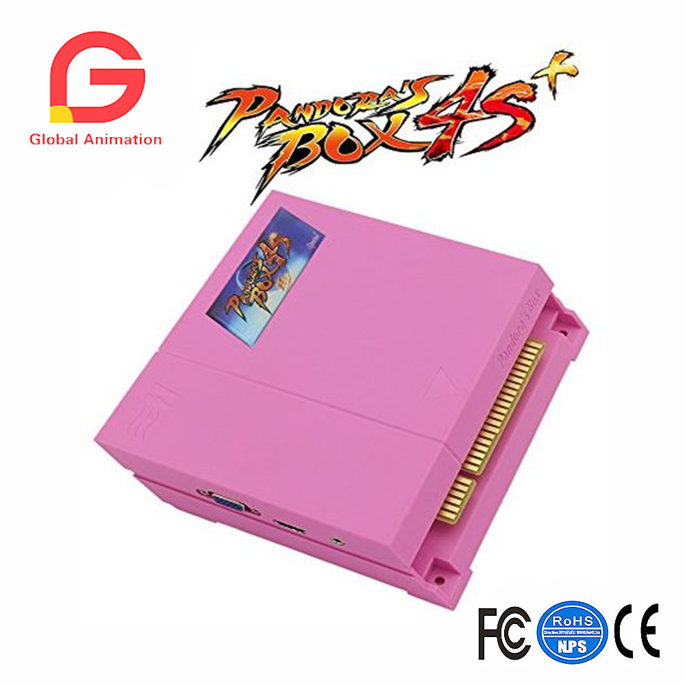 Pandora's Box 4s Plus PCB 815 In 1 Multi Arcade Games Jamma Board with Jamma Harness VGA HDMI Output Arcade Cabinet - Pink цена