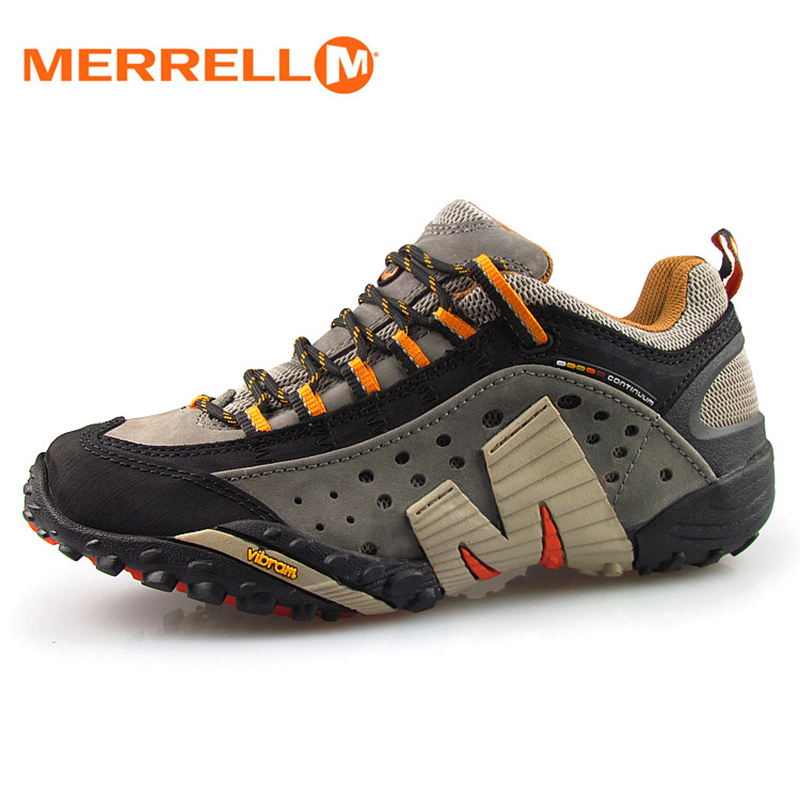 Merrell Men Light Mesh Breathable Outdoor Sport Hiking Shoes For Male Wearable High Quality Mountain Aqua Sneakers 39-45 kelme 2016 new children sport running shoes football boots synthetic leather broken nail kids skid wearable shoes breathable 49