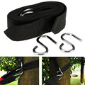Outdoor Sport Hammock hanging belt hammock strap rope with metal buckle Hook Camping Tool Accessories  EJ878830