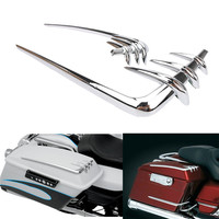 Chrome Saddlebag Lid Accents For Harley Davidson 1993 2013 Touring Electra Glide Classic FLHTC Motorcycle Parts ABS Tool Cover