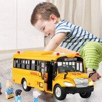Высокое качество Большой размер детский игрушечный школьный автобус модель инерционная машина со звуковым светом для детской игрушки