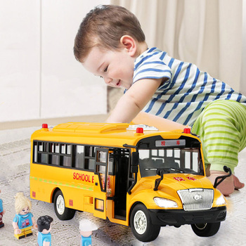 High quality big size children school bus toy model inertia car with sound light for kids toy high quality of non standard special motor bearings mr125zz size 5 12 4 mm helicopter model car available