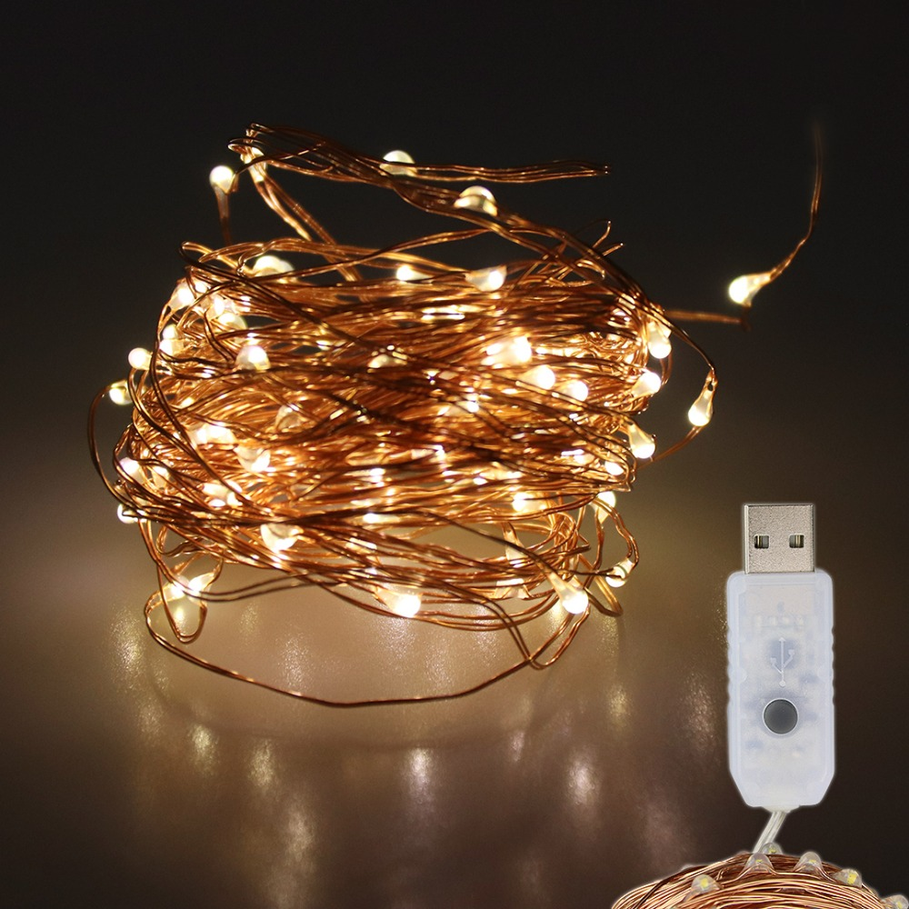 USB LED String Light With Remote Control 8 Function Copper Wire Fairies Holiday Decoration Lights For Xmas Ramadan Wedding JQ