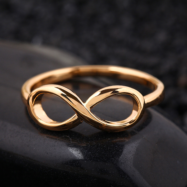 Hot New Fashion Design Gold Color Cross infinity Ring Fine Jewelry Statement Ring Banquet Party Accessories For Women LS52