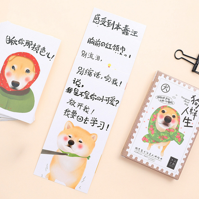 30 pcslot cute dog postcard pet animal birthday greeting card christmas new year party - Dog Greeting Cards