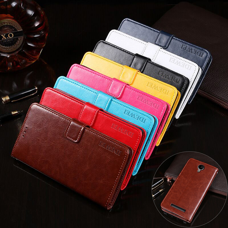 IDEWEI for Micromax Q351 Case High Quality Stand Wallet Leather Flip Phone Cases Cover for Micromax Q351 Case Coque Accessories