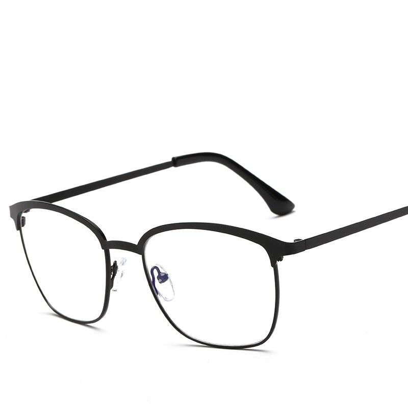 Melnā sudraba metāla brilles rāmju recepšu brilles ar skaidru lēcu viltus optisko stiklu briļļu rāmji sievietēm sievietēm