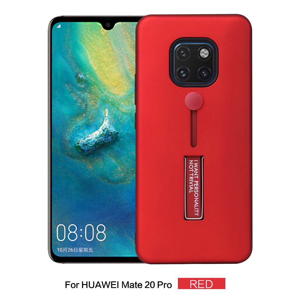 For Huawei Mate 20 Pro Fashion Matte PC Soft Silicon Ring Phone Cases For Huawei Mate 20 Lite Case Hide Stand Holder Back Cover in Fitted Cases from Cellphones Telecommunications