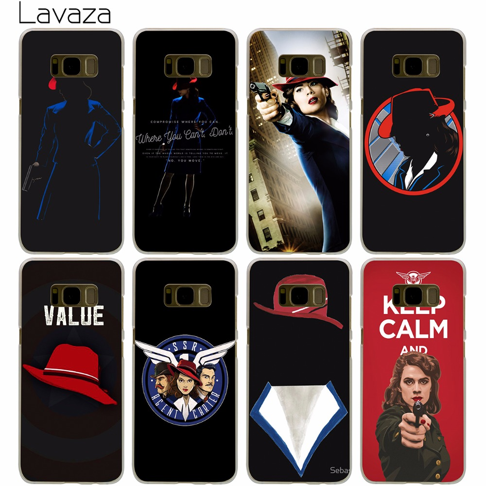 Lavaza Agent Carter Case for Samsung Galaxy S9 S8 S7 S6 S5 Edge Plus