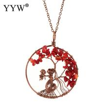 YYW Pendant Long Necklaces Boho Jewelry Vintage Tree Necklace For Women Fashion 2019