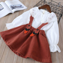 Lace-trimmed princess dress Toddler Kid Baby Girl Clothes Corduroy Swan Party Pageant Princess Overall Dress sukienki hot #06(China)