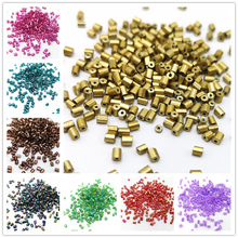 800pcs 2*2.5mm Seed Beads Czech Cylindrical Glass Tube Bugle Beads For Necklace Bracelets Loose Beads DIY Jewelry Making #MZ(China)