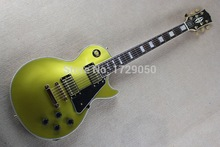 Factory Custom Musical Instrument High Quality Top CUSTOM Metal Gold VOS Gold top LP Electric Guitar Real photo showing 1111