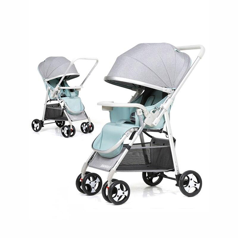 Baby Stroller Can Sit Folding Ultra Lightweight Portable Travelling Pram Newborn