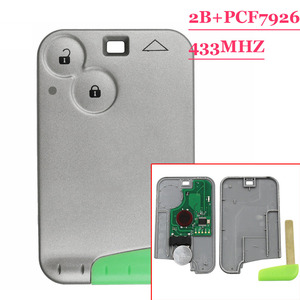 Image 2 - מרחוק חכם מפתח 2 כפתור כרטיס 433MHZ Pcf7926 שבב משדר עבור רנו לגונה 2 Espace שליטה
