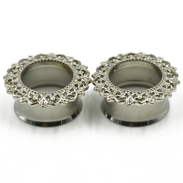 Mandala Flower Ear Piercing Plug Gauge Expanders Ear Taper Stretcher Earring  Body Jewelry
