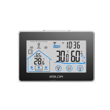 Big discount Weather Station Wireless Touch LCD Indoor Outdoor Temperature Humidity Meter Sensor Hygrometer Clock Digital Thermometer