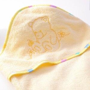 Image 5 - Sıcak toptan 100% bambu elyaf süper yumuşak ve comortable 90x90cm 345gsm bebek havlusu bebek kapşonlu havlu bebek havlu