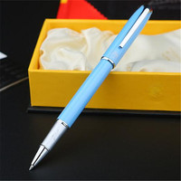 1pc Lot Picasso 916 Blue Roller Ball Pen Malaga Silver Clip Canetas Brand Pen Ball Pens