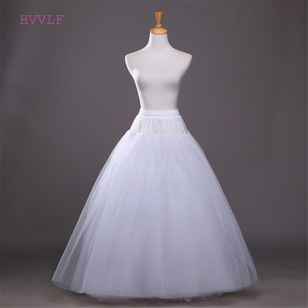 4 Layers Ball Gown Petticoats Womens White Hoopless Underskirt Wedding Petticoat Slip Crinoline Bridal Wedding Accessories