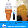 DC07  Hot !!! 13' 4m Inflatable Lighted Ice Cream Balloon Advertising Promotion + Repair Kits + Blower + Light  Factory price