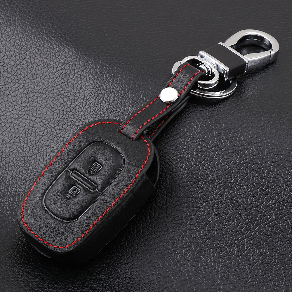2 Button Leather Car Remote Key Fob Cover Case For Renault Kwid