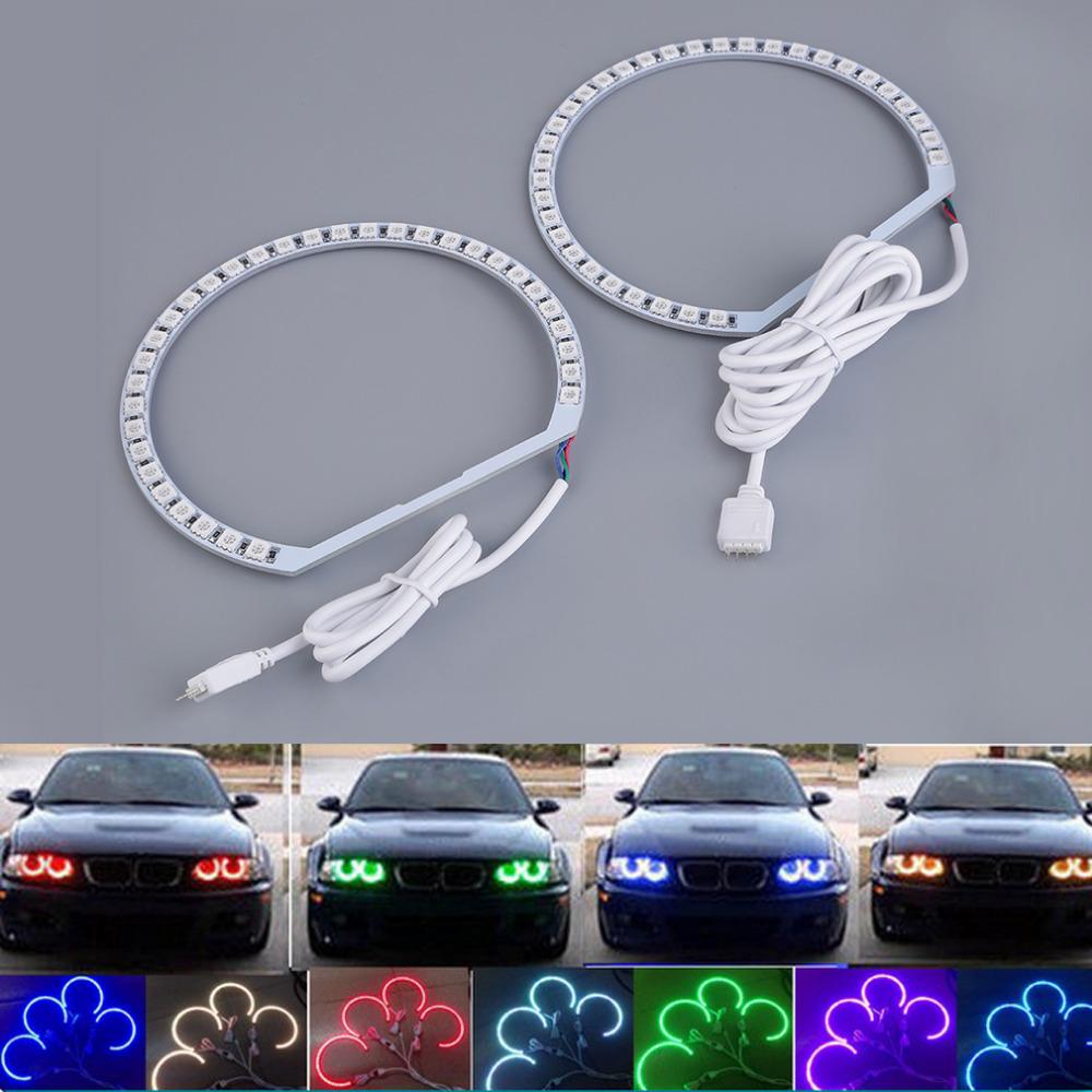 4pcs E36 E38 E39 E46 RGB 4*131MM Multi-Color 5050 Flash LED Car ANGEL EYES Headlight Rings kit for BMW Hot Selling