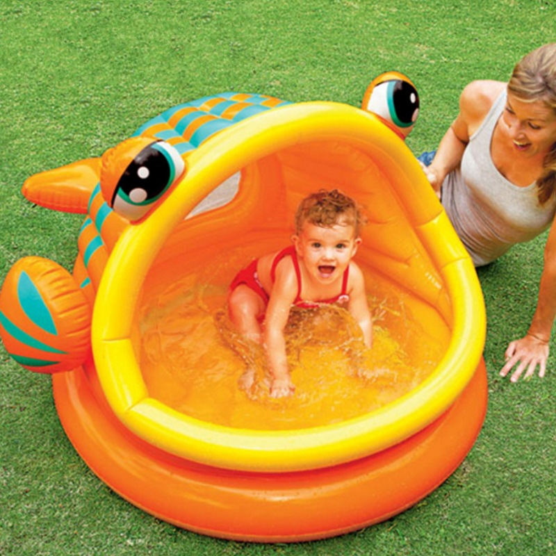 2016 New Style wading pool inflatable swimming pool baby bath Baby Tubs  Free Shipping environmentally friendly pvc inflatable shell water floating row of a variety of swimming pearl shell swimming ring