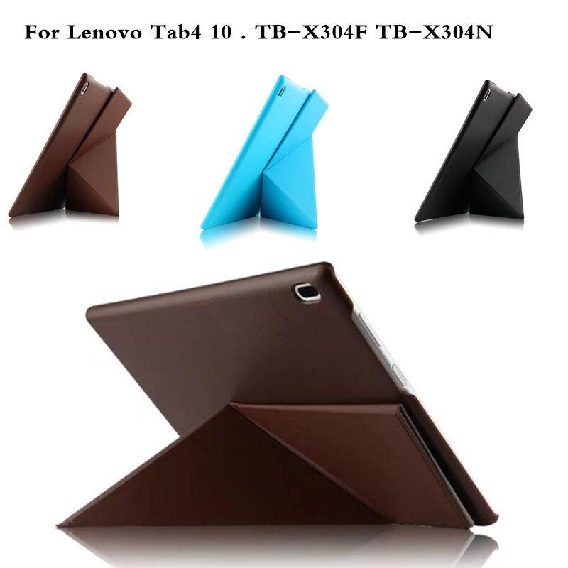 For Lenovo Tab 4 10 TB-X304N TB-X304L TB-X304F 10.1 Tablet PC Cover Case Protective PU Leather TAB4 10 TB X304F/N/L Luxury Case ножницы для живой изгороди 10 truper tb 17 31476