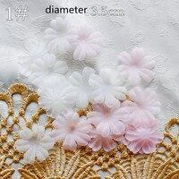 100pcs Pack White Pink DIY Handmade Flower Wedding Dress Ingredients Pyrographic Crushed Eugen Yarn Headwear Materials