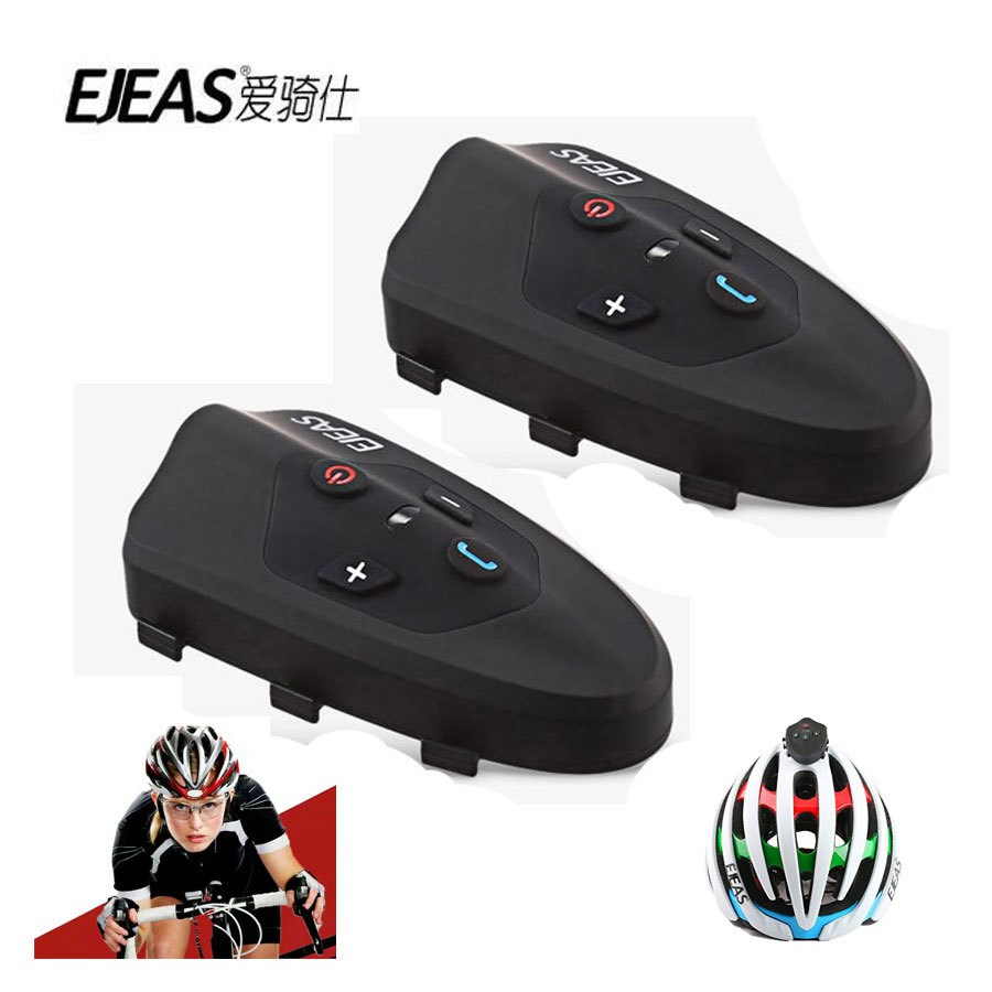 Ejeas Eagle 2 Rider Cycling Interphone Bluetooth Motorcycle Helmet Headset 120km Full Duplex Talking Bicycle Intercom 2pcs