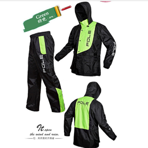 Image 2 - אופנה מעיל גשם גברים עמיד למים מעיל גשם חליפת אופנוע גשם מעיל פונצ ו גדול גודל גשם מעיל חיצוני ספורט חליפת מעיל